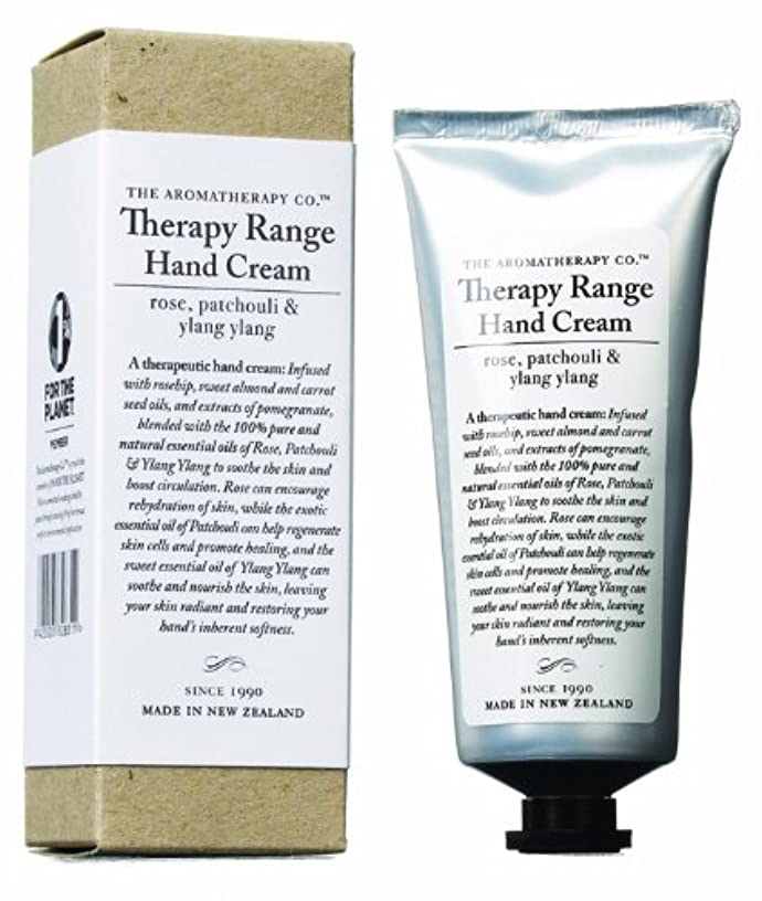 浮く届けるスイス人アロマセラピーカンパニー Therapy Range セラピーレンジ ナリシングハンドクリーム ローズ 、パチュリ&イランイラン