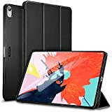 ESR Case for iPad Pro 12.9 inch 2018 Release[All-Screen][Apple Pencil Charging not Supported] Lightweight Smart Case, Trifold Stand, Microfiber Lining, Hard Back Cover, Compatible with The Apple iPad Pro 12.9 (2018 Release), Black