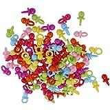 Baosity 約200個 ミニサイズ ベビーシャワー 赤ちゃん おしゃぶり チャーム パーティー 2色選べ - 混合色