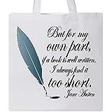 ジェイン・オースティンInktastic Book Quoteトートバッグ One Size