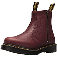 DR MARTENS Womens 2976 with Zips in Grizzly (Bovine) Leather Red Size: 8 Medium UK (10 US)