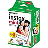 Instax Film Mini 20PK   Suitable for Instax Mini Cameras including 7S ,25, 50S, 8, 70 & 90, also SHARE printer SP-2 ,pack of 2 x 10 sheets (20 sheets)