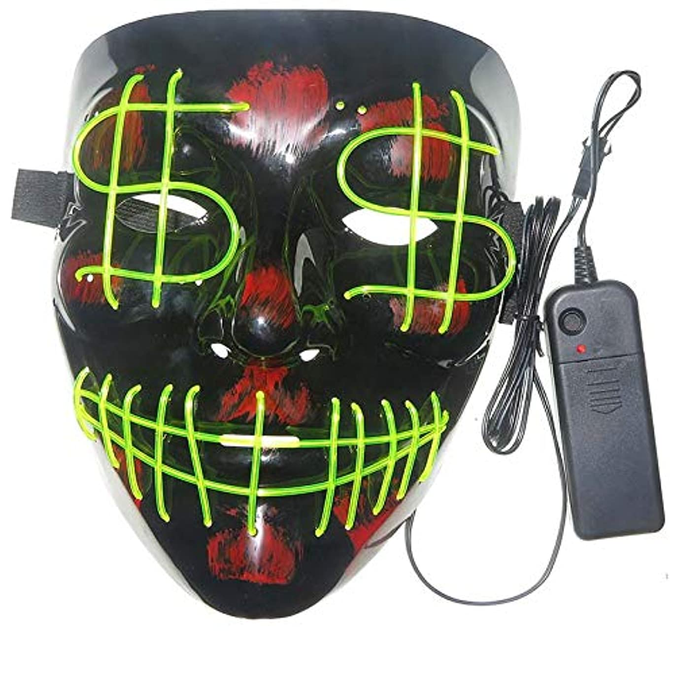 市長チャンピオン叱るハロウィーンの怖いマスクコスプレ-コスチュームマスクライトフェスティバルパーティー用LEDマスク