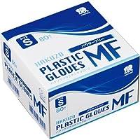 ハクゾウメディカル プラスチックグローブMF 粉無 S 80枚×30箱