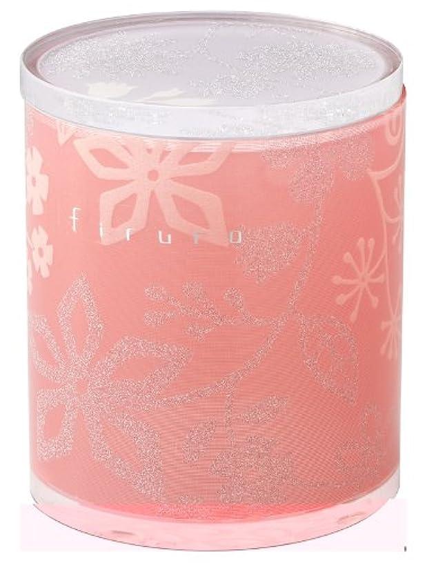 リス『美しい花柄のアクリル製ケース』 フィルロ 綿棒?コットンケース ピンクフラワー