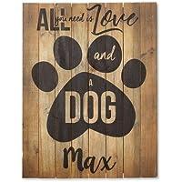 Personalized木製犬Plaque – サインは12
