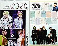 BIGBANG ビッグバン グッズ 大判 壁掛け カレンダー 2020年 (令和2年) + 年間カレンダー [2点セット] 最新版