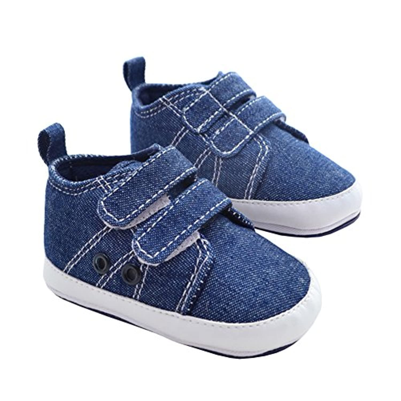 Itaar Baby Boy Sneakers Denim Prewalker Shoes Strap Closure Soft Rubber Sole by Itaar