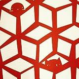 SUMINOEその他 ドレープカーテン ネコトモグ(100×200cm) V1237R レッドの画像