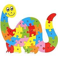 恐竜動物木製パズルアルファベット文字ブロックPreschool子供Learing Toy