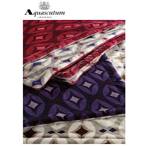Aquascutum(アクアスキュータム) リバーシブル毛布...