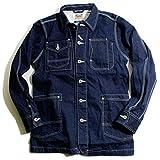 Houston ヒューストン デニム カバーオール ワークジャケット デニムジャケット 日本製 Denim デニム 38(Mサイズ)