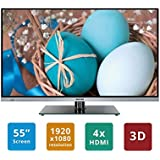 "Soniq E55S14A Super Slim 55"" FHD 3D Smart Borderless Led Tv"