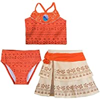 Disney I Am Moana 3-Piece Deluxe Swimsuit for Girls Orange