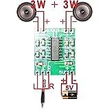 KKHMF PAM8403 2.5V-5V 超小型ステレオパワーアンプ基板モジュール(3W + 3W)