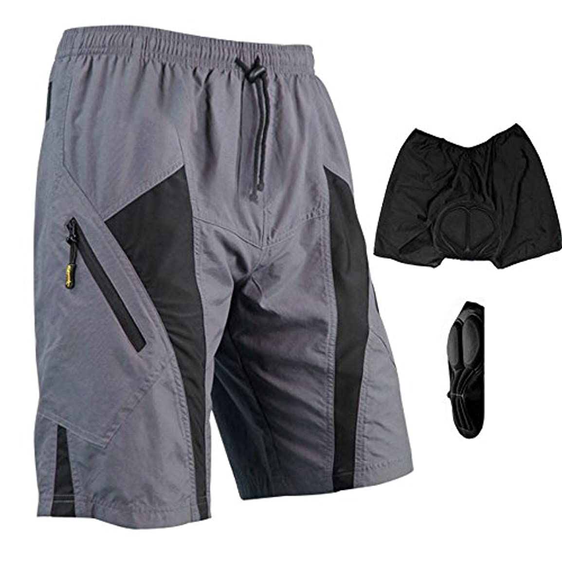 近々困った店主HI9 Store Santic ルーズフィット サイクリングパンツ 自転車バイクMTBショーツ(3Dゲルパッド付き)レジャーパンツ Loose Fit Cycling Bicycle Bike MTB Shorts 3D...