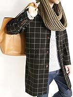 (モノマート) MONO-MART メルトン ステンカラーコート チェスターコート 起毛 デザイナーズ コート ロング丈 品質 暖かい 着回し アウター モード メンズ