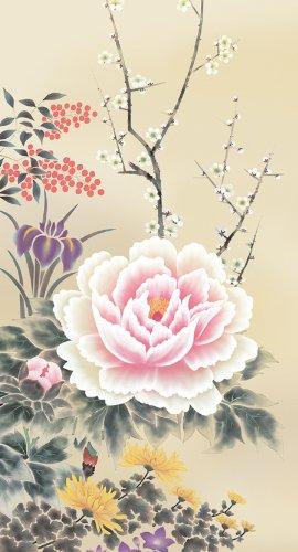 掛け軸/掛軸 四季花 (山村 観峰)