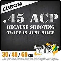 45 ACP - 3つのサイズで利用できます 15色 - ネオン+クロム! ステッカービニールオートバイ
