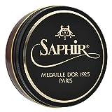 [サフィールノワール] SaphirNoir ビーズワックスポリッシュ 50ml 靴磨き 鏡面磨き 補色 ツヤ出し 9551002 (ライトブラウン)