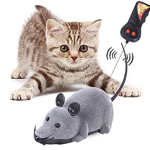 Miyinla 電動ネズミ 猫おもちゃ 猫じゃらし 玩具 犬猫ダイエット 運動不足解消 ネズミ型ラジ...