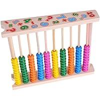 yuuups Abacus 木製ビーズ 数量 数え方式 教育 10バー 早期教育玩具 建設エンジニアリング 男の子と女の子用 対象年齢3 4 5歳以上 クリエイティブで楽しいキット 子供への最高のギフト