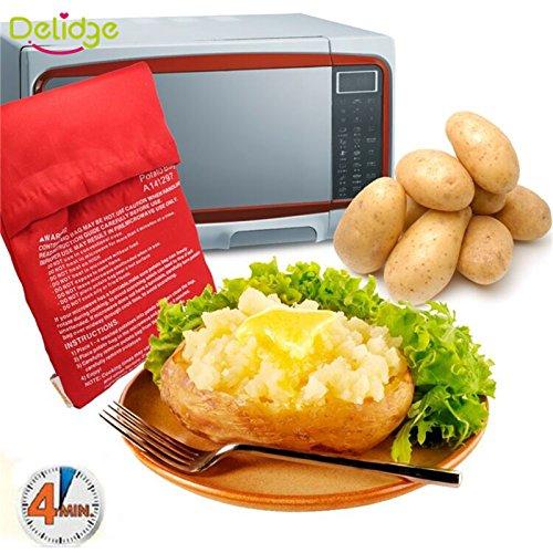 クイックわずか4分で(一度に8ジャガイモを調理)高速洗浄ポテトバッグを2個/ロットオーブン電子レンジ焼きレッドポテトバッグ