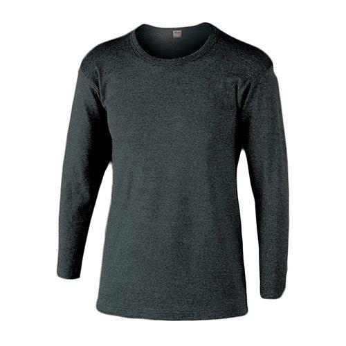 おたふく手袋 ボディータフネス 発熱・保温 テックサーモ インナーシャツ 長袖丸首 モクグレー LL JW-169 5枚1セット