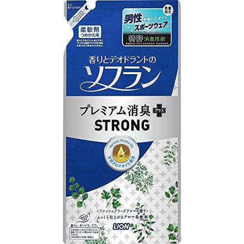 ソフラン 香りとデオドラントのソフラン プレミアム消臭プラスSTRONG 詰め替え 450ml 1個 柔軟剤 ライオン