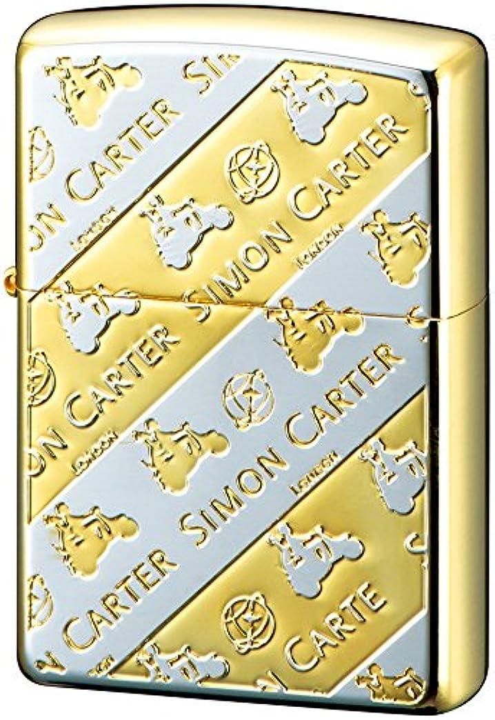 調べる自治的ライバルZIPPO ライター サイモンカーター モープドモノグラム シルバー ゴールド