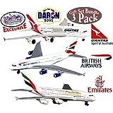 "Daron Emirates A380, Qantas A380 & British Airways A380 Die-cast Planes ""Matty's Toy Stop"" Exclusive Gift Set Bundle - 3 Pack"