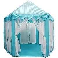Prince and Princess Castle Playテント屋内と屋外の使用 – ピンク ブルー 001