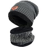 Zenoplige ニット帽 ネックウォーマー キャップ セット 暖かい 裏起毛 防寒 保温 自転車 バイク スキー スポーツ アウトドア 冬 メンズ レディース