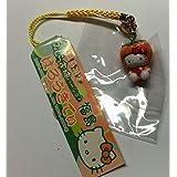 ハローキティ キティ ストラップ 根付 福島限定 みしらす柿バージョン Hello Kitty サンリオ sanrio はっぴぃえんど