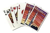 Saturn Vとサンセット( Playingカードデッキ–52カードPokerサイズwithジョーカー)