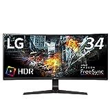 LG ゲーミング モニター 34GL750-B 34インチ/21:9 曲面 ウルトラワイド/IPSハーフグレア/144Hz/G-SYNC Compatible/HDR/DP×1,HDMI×2