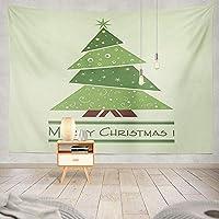 JOOCAR 飾りをかける 色とりどりの緑のクリスマスツリースター、ハッピーサプライズ 快適なインテリア、アイデアのタペストリー