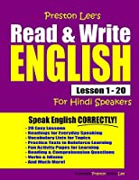 Preston Lee's Read & Write English Lesson 1 - 20 For Hindi Speakers