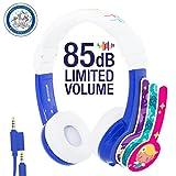 【正規代理店品】Onanoff(オナノフ) BuddyPhones 子供の耳にやさしい音量制限構造 (トラベルエクスプロー, ブルー)