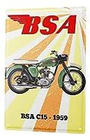 なまけ者雑貨屋 Bsa C15-1959 ブリキ看板 メタル 壁飾り ポストカード サインプレート