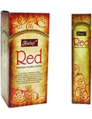 Balaji Red Premium Flora Sticks (Incense/Joss Sticks/ Agarbatti) (12 units x 15 Sticks) by Balaji