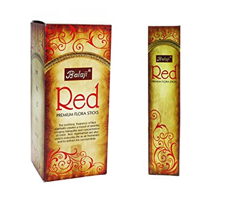 チャンバー浸漬エレガントBalaji Red Premium Flora Sticks (Incense/Joss Sticks/ Agarbatti) (12 units x 15 Sticks) by Balaji