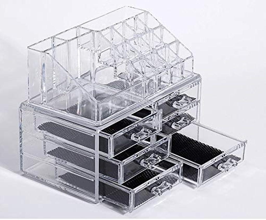 関連付ける公園腹化粧品収納ボックス メイクケース メイクボックス コスメボックス 騒音なし 防塵 高透明度 強い耐久性 整理簡単 引き出し小物