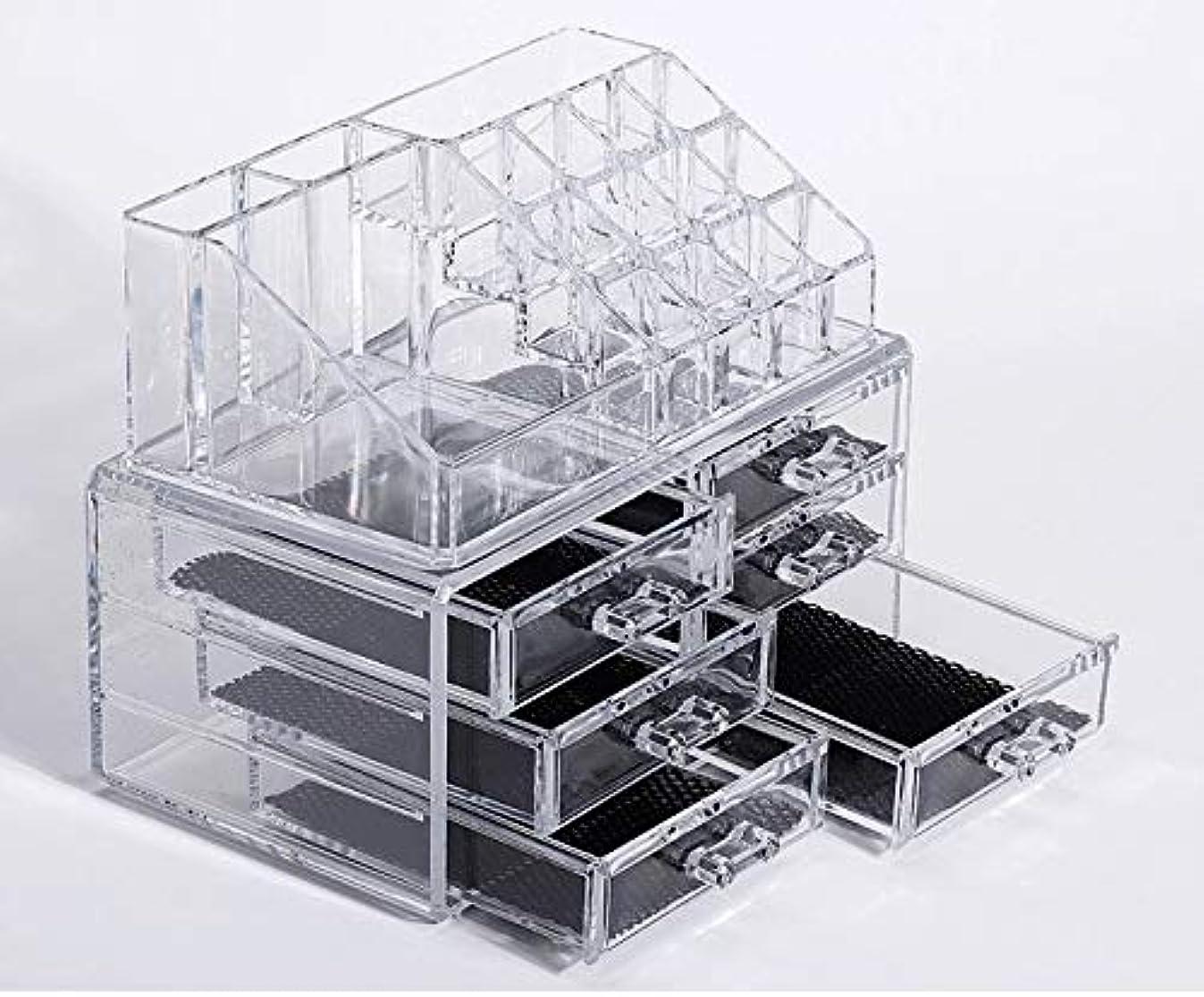 スリルささやきレガシー化粧品収納ボックス メイクケース メイクボックス コスメボックス 騒音なし 防塵 高透明度 強い耐久性 整理簡単 引き出し小物