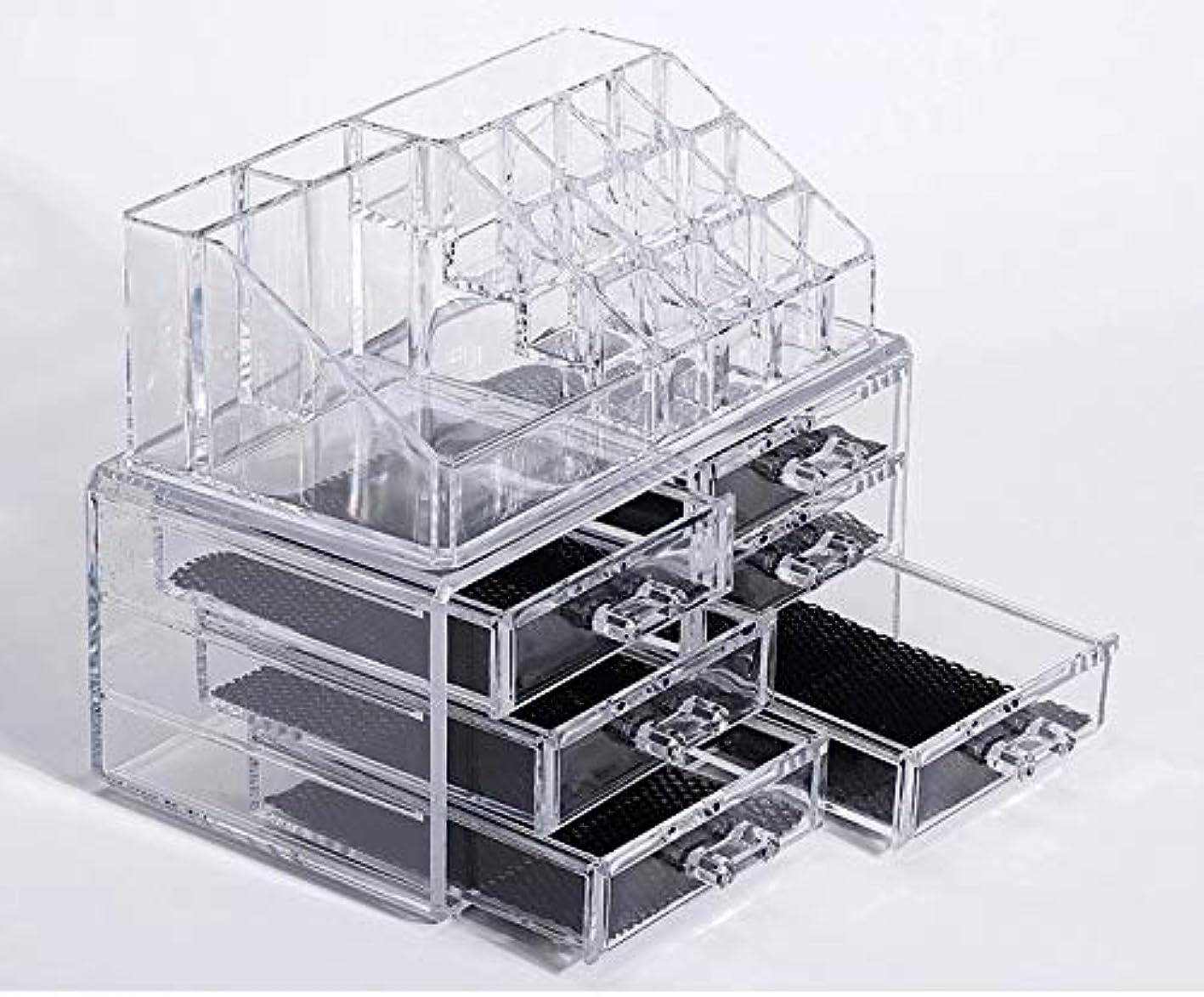 一晩迅速公演化粧品収納ボックス メイクケース メイクボックス コスメボックス 騒音なし 防塵 高透明度 強い耐久性 整理簡単 引き出し小物