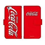 Nexus 6P 手帳型 ケース [デザイン:A.ビックロゴ(赤)] Coca-Cola コカ・コーラ ネクサス スマホ カバー