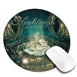 ナイトウィッシュ Nightwish マウスマット ラウンド 丸いマウスパッド ゴム製裏面 防水 厚くした ゲーミングマウスパッド PC ラップトップ オフィス用