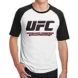 メンズ 半袖 UFC 格闘 Tシャツ 綿 通気性 Black