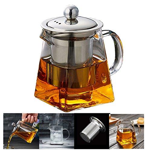 Pluiesoleil ティーポット 耐熱ガラス 350ML茶器 花茶 紅茶 ポット 家族用 業務用 飲食店 お店用 ティーパーティに大活躍