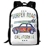 カラフル 車 ファッション バックパック 通勤 リュックサック ナップザック 多機能バッグ デイパック ショルダーバッグ